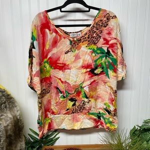 Cato animal floral print blouse size 22/24W